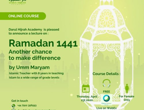 """Ramadhan 2020 Another chance to make difference"""