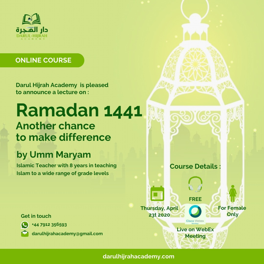 """""""Ramadhan 2020 Another chance to make difference"""""""